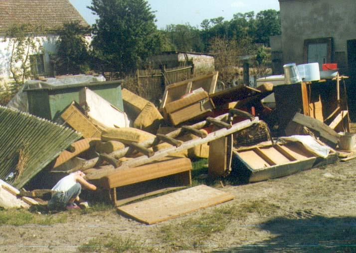 zalany budynek w Lubszy 30.07.1997