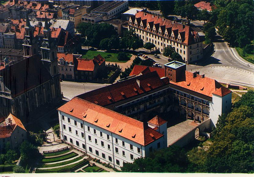 Zamek - widok z lotu ptaka