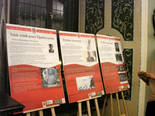 fragment wystawy o żołnierzach wyklętych