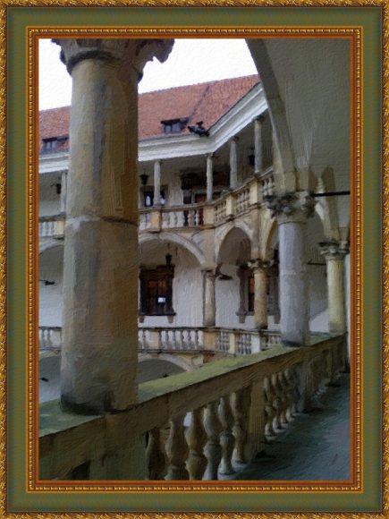 Zamek w Brzegu w ramie
