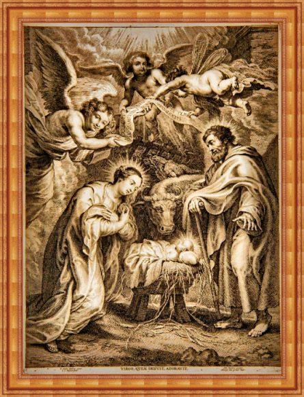 rubens - boze narodzenie w ramce